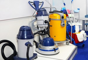 Industrial drum vacuum cleaners and janitors equipment